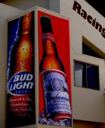 Bud Light Banners at the Horse Race